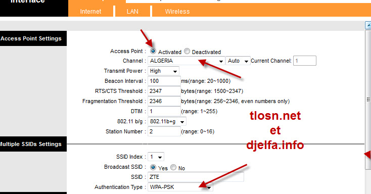 شرح طريقة إعداد مودام zte zxv10 w300 wifi 13283473494